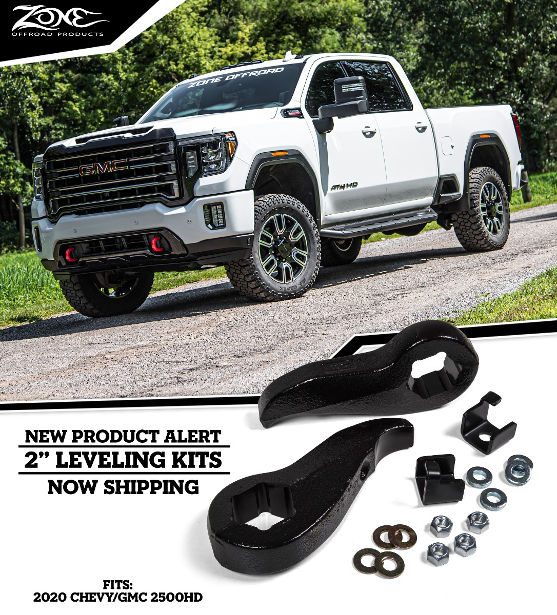 Zone Offroad Npr 155 2 Leveling Kits For 2020 Chevy Gmc Hd